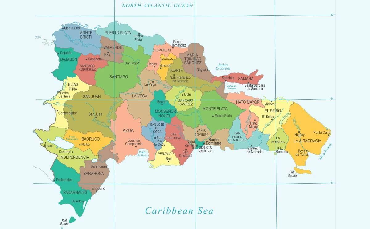 Mapa Político De La República Dominicana Terrenos En Venta Rd